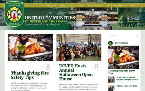 Screenshot of Press Page ucvfd.org - News - United Communities Volunteer Fire Department - captured Nov. 29, 2018