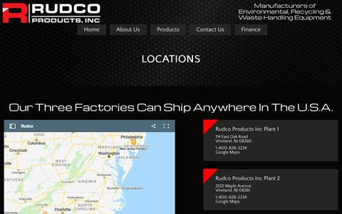 Screenshot of Locations Page rudco.com - Three Factories That Can Ship Nationwide | Rudco Products - captured Oct. 18, 2018