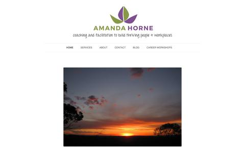 Screenshot of Home Page amandahorne.com.au - Amanda Horne – Amanda Horne • coaching and facilitation to build thriving people & workplaces - captured Oct. 8, 2017