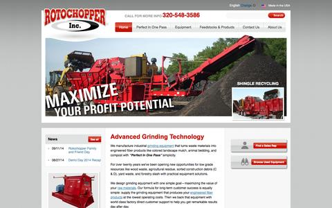 Specializing in Industrial Grinding Technology | Rotochopper