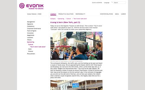 New York 2 - Evonik Industries - Specialty Chemicals