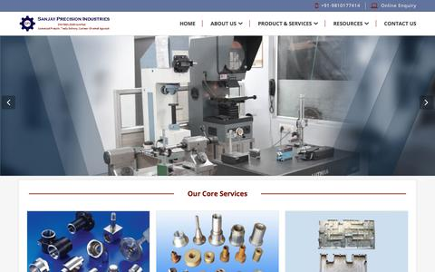 Screenshot of Home Page sanjayprecisionind.com - Turned Components and CNC Turned Parts Exporter - Sanjay Precision Industries,Ghaziabad - captured Sept. 29, 2017