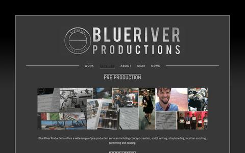 Screenshot of Services Page blueriverpro.com - Services — Blue River Productions - captured Feb. 7, 2016