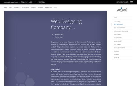 Screenshot of About Page mayuri.co.in - Website Design Company | Web Development Service Chennai India - captured Oct. 22, 2015