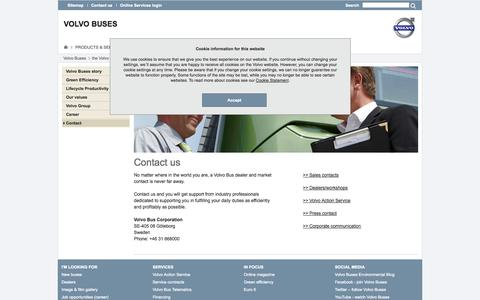 Screenshot of Contact Page volvobuses.com - Contact : Volvo Buses - captured Sept. 23, 2014