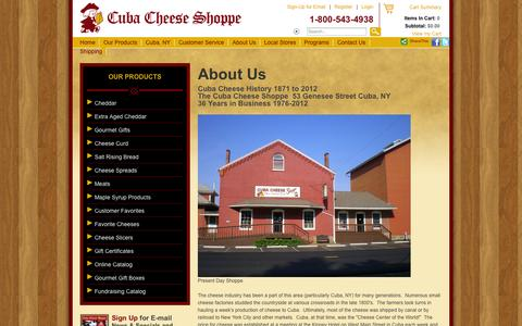 Screenshot of About Page cubacheese.com - About Us - captured Oct. 3, 2014