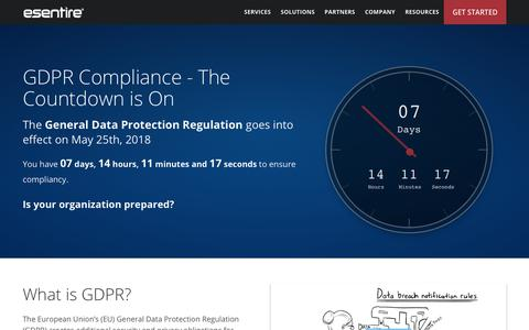 GDPR Compliance - The Countdown is On | eSentire