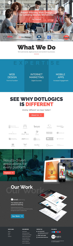 Screenshot of dotlogics.com - New York Website Design & Development Company, NYC Web Services - captured March 13, 2017