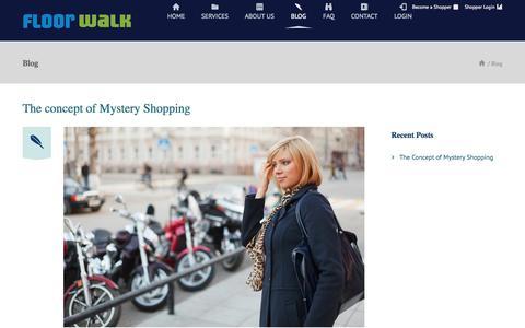 Screenshot of Blog floorwalk.in - Mystery Shopping India -Mystery Shopping, Secret Shopping - captured Sept. 30, 2014