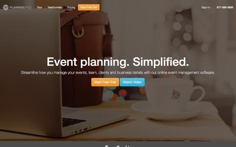 Screenshot of Home Page planningpod.com - Online Event Management Software / Event Planning Software - Planning Pod - captured Dec. 29, 2015
