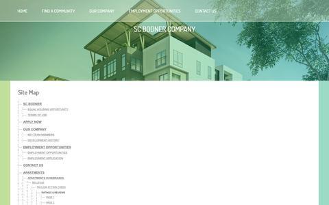 Screenshot of Site Map Page scbodnermanagement.com - SC Bodner Company, Inc | Site Map | Apartment Development, Management & Ownership - captured Oct. 1, 2018