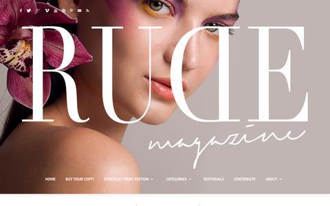 Screenshot of Press Page rude-magazine.com - News | RUDE Magazine - captured Oct. 18, 2018
