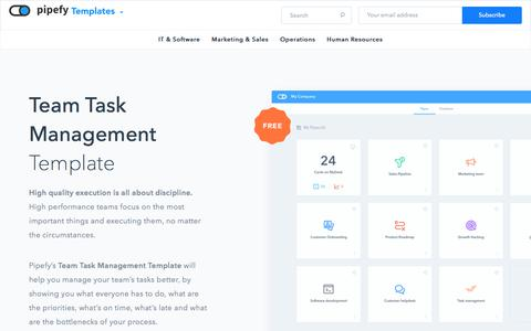 Free Team Task Management Template | Pipefy