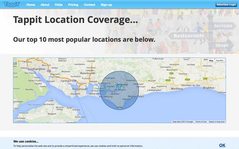 Screenshot of Locations Page tappit.co.uk - Location Data - Tappit - captured Nov. 5, 2014