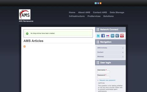 Screenshot of Blog amsmaint.com - AMS Articles | AMS Maintenance - captured Oct. 4, 2014