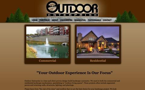 Screenshot of Home Page outdoor-enterprise.com - Outdoor - captured Oct. 7, 2014