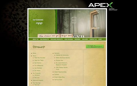 Screenshot of Site Map Page apexenergygroup.com - Apex Energy Solutions | Sitemap - captured Sept. 30, 2014