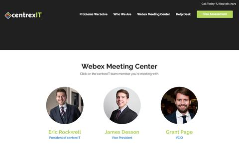 Screenshot of centrexit.com - Webex Meeting Center | centrexIT - captured July 12, 2017