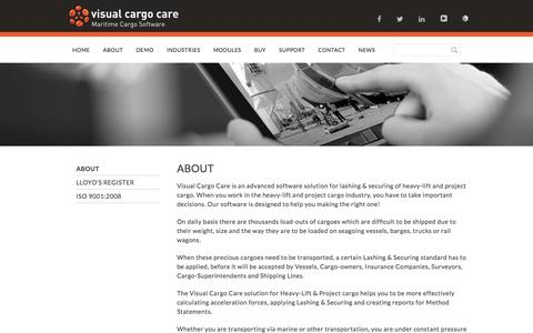 Screenshot of About Page visualcargocare.com - About - Visual Cargo Care - captured Jan. 11, 2016