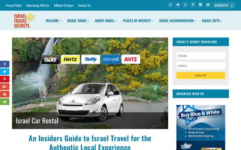 Screenshot of Home Page israel-travel-secrets.com - The Last Israel Travel Guide You'll Ever Need - captured Sept. 19, 2018