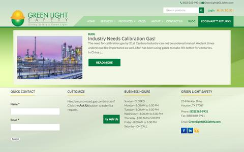 Screenshot of Blog glsafety.com - Blog Archives - Green Light Safety - captured Sept. 20, 2017