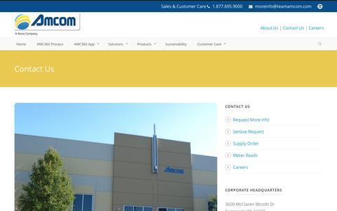 Screenshot of Contact Page teamamcom.com - Amcom  Contact Us - Amcom - captured Nov. 20, 2016