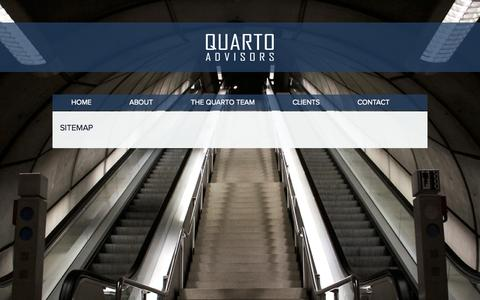 Screenshot of Site Map Page quartoadvisors.com - Sitemap | Quarto - captured Sept. 30, 2014