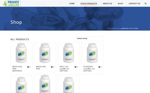 Essential Fatty Acids Archives - Private Label Supplements and Vitamins