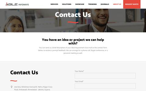 Contact Us: A Reputed IT Solution Services Provider Company | Agile Infoways