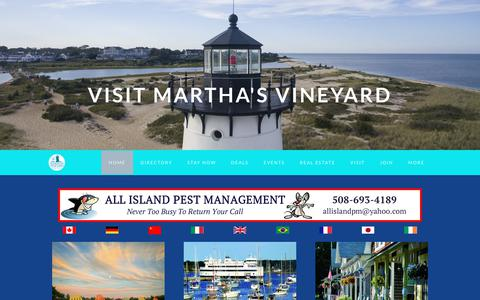 Screenshot of Home Page mvy.com - Martha's Vineyard Chamber of Commerce | Vineyard Haven, MA 02568 - Martha's Vineyard Chamber of Commerce - captured Feb. 20, 2018