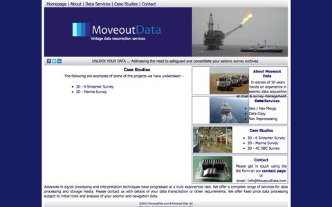 Screenshot of Case Studies Page moveoutdata.com - Seismic Data Management Services | Moveout Data Ltd - captured Feb. 24, 2016