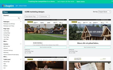 Screenshot of Case Studies Page crayon.co - Construction Case Studies Pages | Website Inspiration and Examples | Crayon - captured Dec. 4, 2018