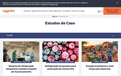 Screenshot of Case Studies Page aggreko.com - Estudo de casos | Aggreko - captured Oct. 21, 2018
