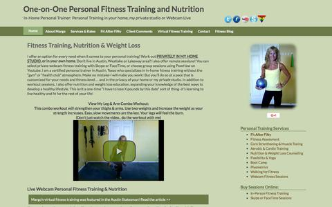 Screenshot of Home Page personal-fitness-trainer-austin.com - Personal Trainers Austin Lakeway Westlake In Person Training - captured June 16, 2016