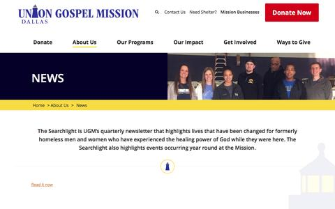 Screenshot of Press Page ugmdallas.org - News - UGM Dallas - captured Dec. 3, 2016