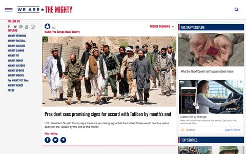Screenshot of Press Page wearethemighty.com - Americas Military Entertainment Brand - MIGHTY TRENDING - captured Feb. 14, 2020