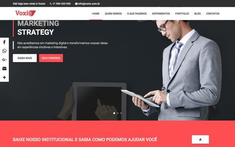 Screenshot of Home Page voxis.com.br - Agência de Marketing Digital Voxis - captured Dec. 6, 2016
