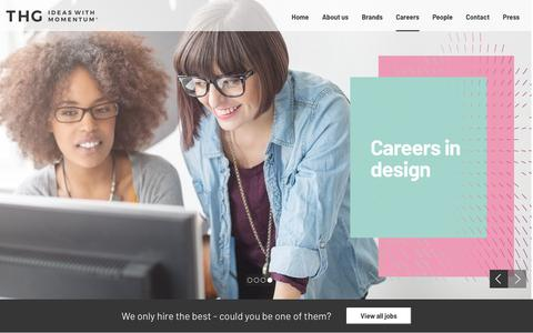 Screenshot of Jobs Page thehutgroup.com - Careers at The Hut Group (THG) - captured Jan. 15, 2018