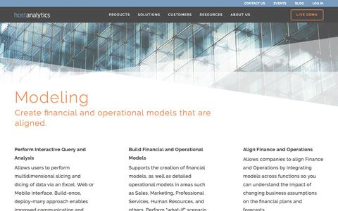 Financial Modeling Software | Host Analytics