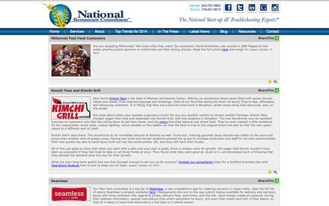 Screenshot of Blog restaurantconsulting.us - National Restaurant Consultants | Restaurant Consulting Blog - captured Oct. 27, 2014