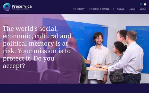 Screenshot of Jobs Page preservica.com - Careers | Preservica - Secure Digital Archive, Storage & Preservation | Preservica - captured July 21, 2018