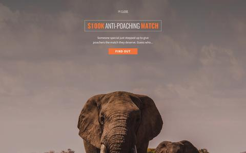 Screenshot of Press Page awf.org - News | African Wildlife Foundation - captured May 11, 2019
