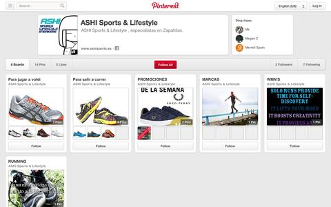 Screenshot of Pinterest Page pinterest.com - ASHI Sports & Lifestyle on Pinterest - captured Oct. 23, 2014