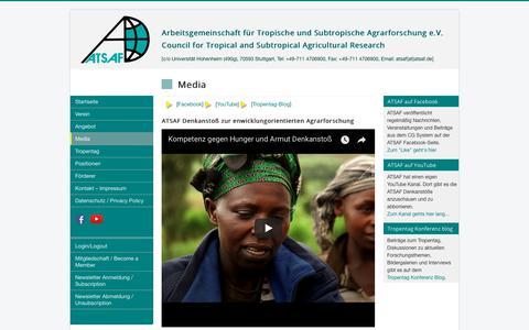 Screenshot of Press Page atsaf.org - ATSAF e.V. - Media - captured July 11, 2018