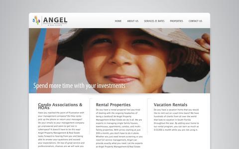 Screenshot of Home Page angelpm.com - South Florida(FL) Rental Property Management Companies   Broward County Rental Property Management Companies - captured Oct. 4, 2014