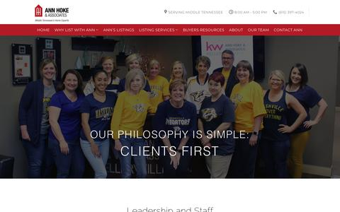 Screenshot of Team Page annhoke.com - Our Team | Ann Hoke & Associates - captured Oct. 3, 2018