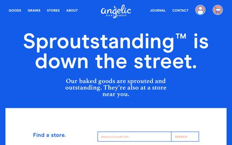 Screenshot of Locations Page angelicbakehouse.com - Where to buy our Sprouted Grain Bread products | Angelic Bakehouse - captured Nov. 6, 2018