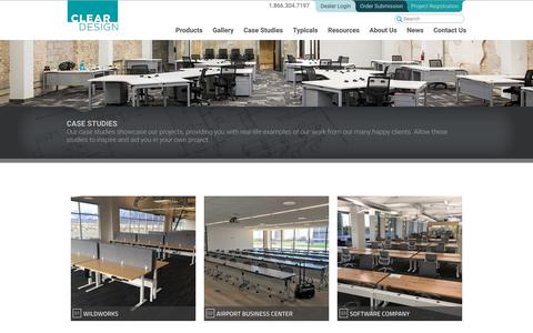 Screenshot of Case Studies Page mycleardesign.com - Modern Office Design Examples - captured Sept. 28, 2018