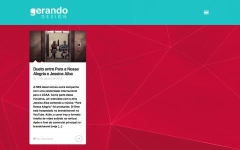 Screenshot of Blog gerandodesign.com.br - Blog | Gerando Design - captured July 13, 2016