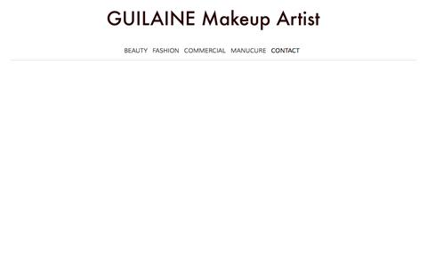 Screenshot of Contact Page guilainemakeup.com - maquilleuse professionnelle, makeup artist | CONTACT - captured Aug. 21, 2019